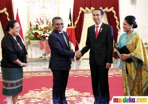 Foto Akrabnya Jokowi Dan Pm Timor Leste Ngobrol Santai