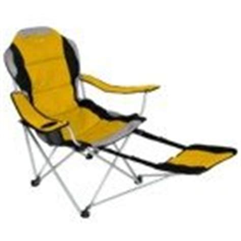 sportline fold reclining chair with footrest folding cing chair with footrest