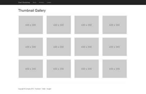 bootstrap themes templates thumbnail gallery
