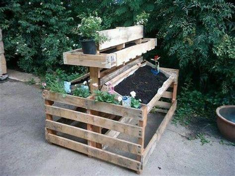pallet garden bed 9 diy pallet garden bed ideas 99 pallets