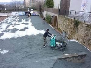 pavage allee de garage beton decoratif amenagement de jeux With cailloux pour allee de garage