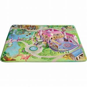 tapis de jeux princesse 180 x 130 cm deco chambre With tapis chambre bébé avec fleurs cadeaux anniversaire