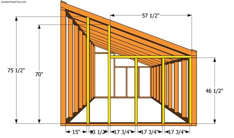 lean to shed plans lean to greenhouse plans free garden plans how to