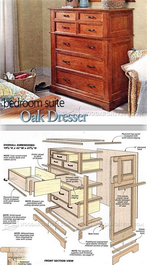 woodworking projects  beginners dresser plans
