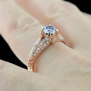 Rose gold engagement rings archives miadonna diamond for Lab created diamond wedding rings