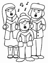 Choir Coloring Pages Template sketch template