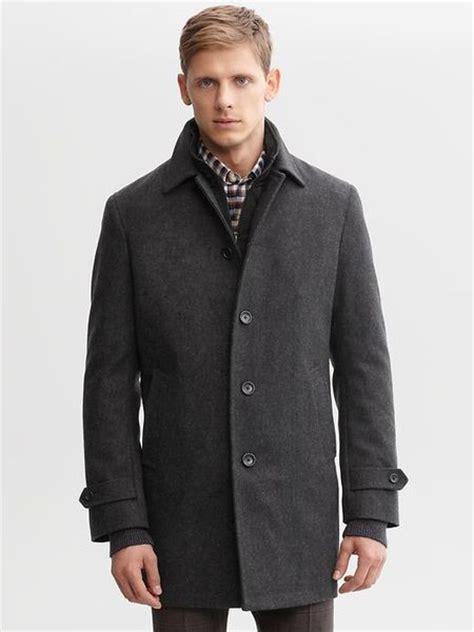 Banana Republic Wool Car Coat in Gray for Men (charcoal ...