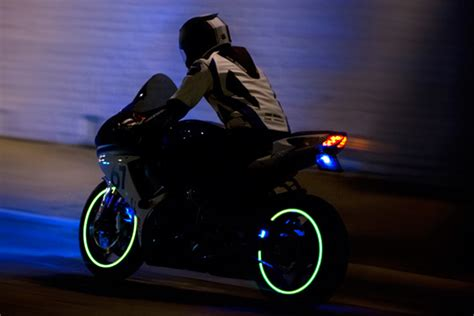 create your own bike with these glowing sci fi strips