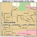 East Lansing Michigan Street Map 2624120