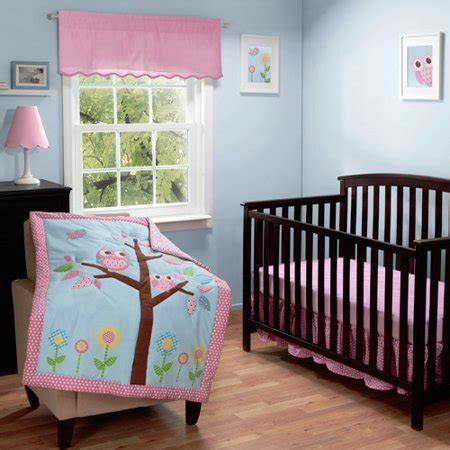 owl bedding crib baby boom owls in a tree 3pc crib bedding set walmart