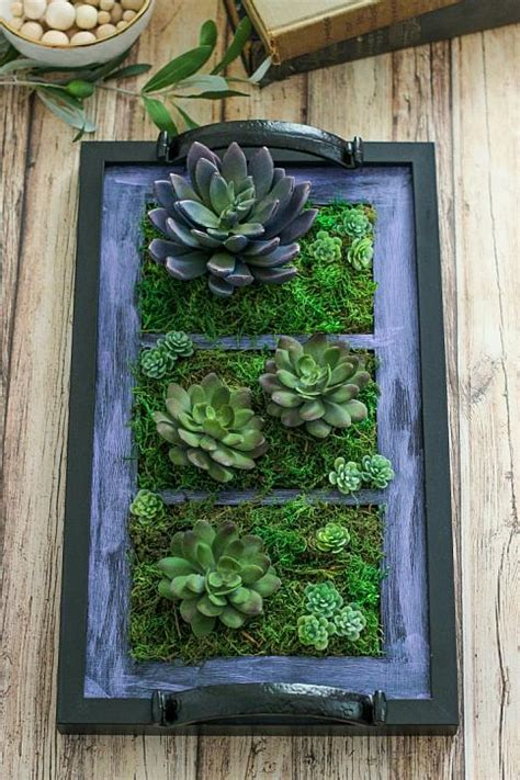 decoart blog crafts diy picture frame tray garden