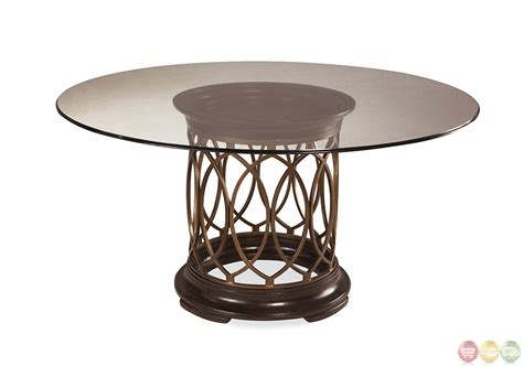 round glass breakfast table set intrigue transitional round glass top table chairs
