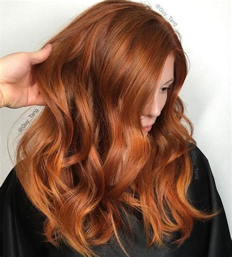 Balayage Ginger Hair Color Red Hair Color Pinterest