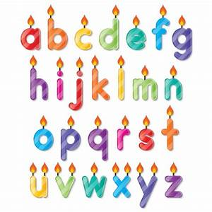 Alphabet shaped birthday candles vector free download for Alphabet letter birthday candles