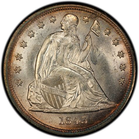 liberty dollar coin 1843 seated liberty silver dollar values and prices past sales coinvalues com