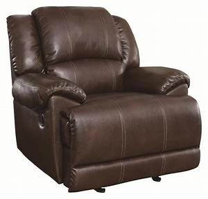 Coaster mackenzie glider recliner with casual style for Mackenzie chestnut 6 piece reclining sectional sofa with casual style