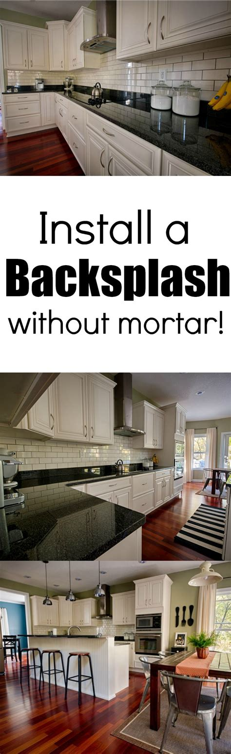 how to install a backsplash in kitchen install a backsplash without mortar learn how a