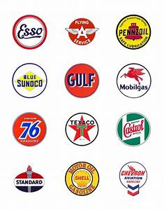 Oil Company Logos | figured i d gather a few vintage gas ...