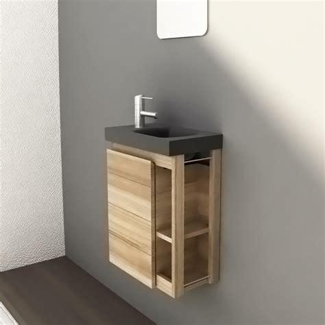 accessoire de cuisine pas cher lave mains en frêne massif 1 porte miroir longueur 40cm