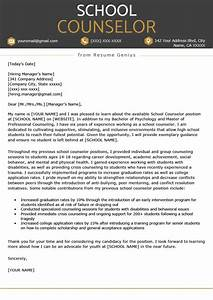 Camp Counselor Cover Letter School Counselor Cover Letter Sample Tips Resume Genius