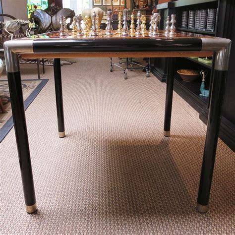mid century game table fine mid century game table chess and backgammon at 1stdibs