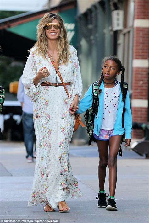 Heidi Klum Steps Out With Daughter Lou New York City
