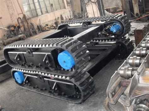 rubber track system undercarriagerubber track chassis  harvester machines dumpers drill
