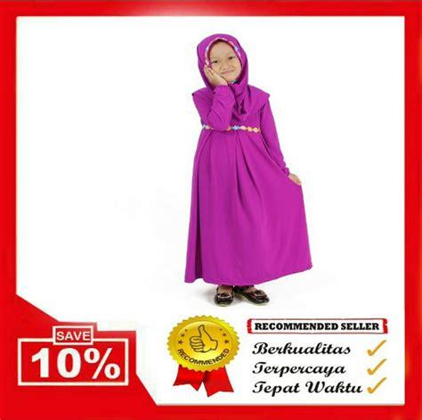 Gamis Anak Cutetrik Ungu jual baju muslim gamis anak perempuan warna ungu magenta
