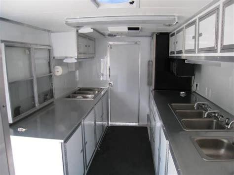 loaded enclosed concession trailer interior concession