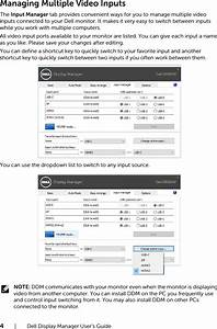 Dell U3818dw Monitor Display Manager User U2019s Guide User