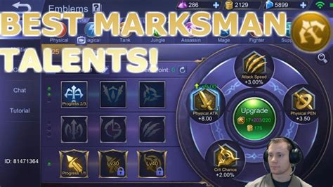 [mobile Legends] Correct Emblem Choice For Marksman!