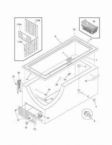 Kenmore 25316552100 Chest Freezer Parts