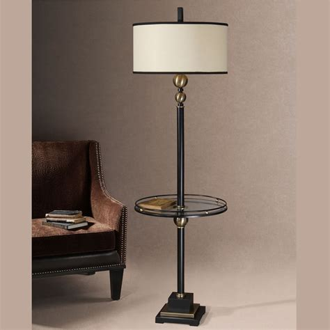 Side table with lamp attached   Lighting and Ceiling Fans