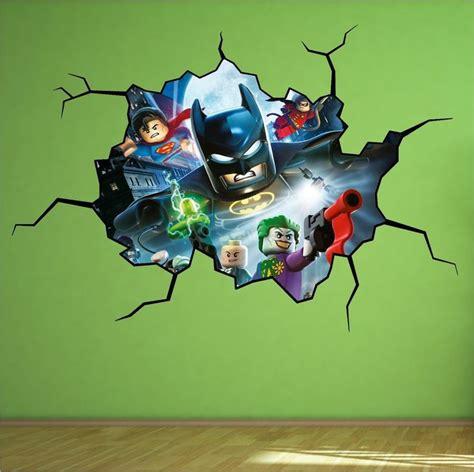 Lego Bedroom Wall Decals by Lego Batman Vinyl Wall Mural Decal Sticker Wars 3m