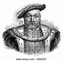King Henry VIII; Black and White Illustration Stock Photo ...