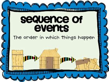 Comprehension Practice Sequence Of Events By Teaching