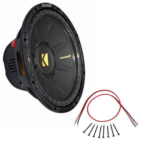 sub installation kit kicker cwd12 12 inch compd series dual 2 ohm 300 watt sub subwoofer install kit ebay