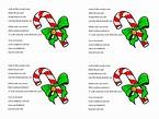 Candy Cane Poem Coloring Sheet | Hakume Colors