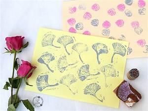 Stempel Selbst Herstellen : diy stempel herstellen stoff und papier bedrucken mit kindern lila wie liebe ~ Buech-reservation.com Haus und Dekorationen