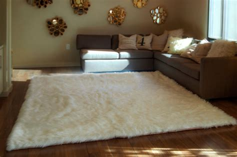 Ideas For Role Playing In The Bedroom by White Fuzzy Rug Will Make Comfortable Your Room Best