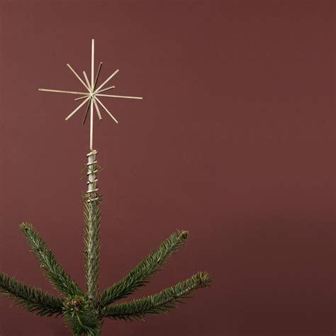 brass christmas tree top star ferm living  connox