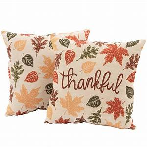Mainstays, Fall, Thankful, Decorative, Throw, Pillows, 17, X, 17, 2, Pack, Harvest