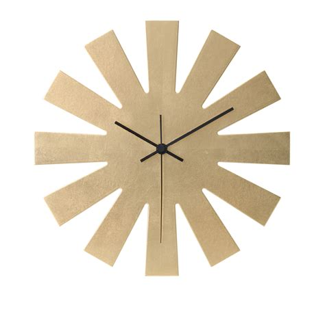 sun shaped wall clock authentic kanazawa haku gold