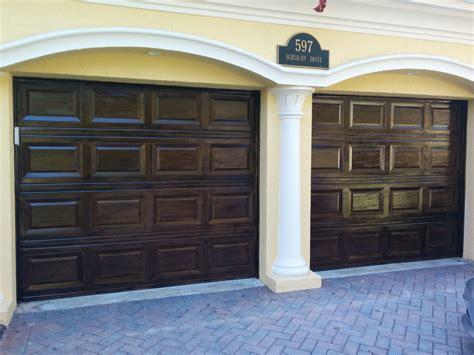 wood grain garage doors faux finish decorative