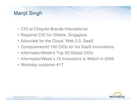 Chiquita and Workday at the HR Technology Presentation