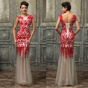 sirene rouge longue robes de marieedemoiselle d39honneur With 3 suisses robe de soirée
