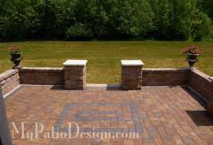 patio seat wall design fabulous seating wall ideas for your patio mypatiodesign com