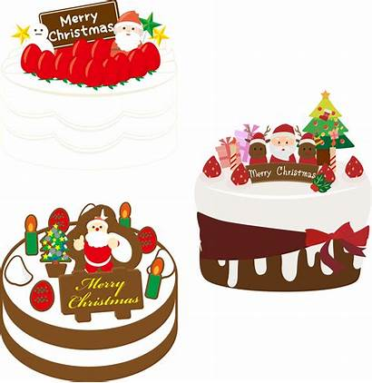 Christmas Cake Japanese Clipart Openclipart Vector Three