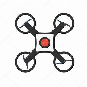Drones con cámara de acción Diseño plano Drone quadrocopter Archivo Imágenes Vectoriales