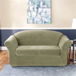 sure fit stretch squares two piece sofa slipcover
